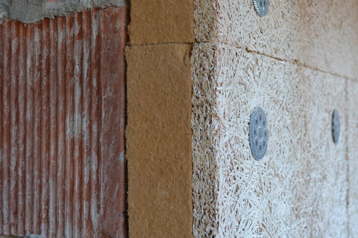 fibra di legno per cappotto esterno